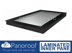 SKYLIGHT  WINDOW CLEAR TRIPLE GLAZED SELF CLEANING GLASS BY PANOROOF 1000x4000mm