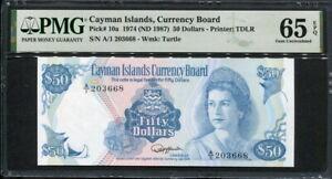 Cayman Islands 1974 ( 1987 ), 50 Dollars, P10, PMG 65 EPQ GEM UNC