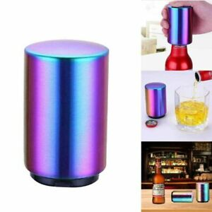 Magnetic Automatic Beer Bottle Cap Opener Stainless Steel Push Down Opener Hot