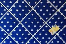 90x60cm Blue & White Star Print Hand Crafted Fabric Notice Memory Pin Memo Board