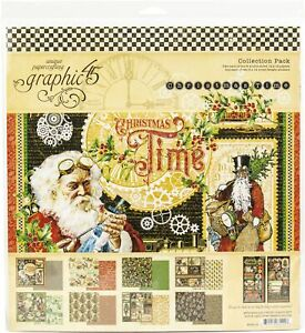 "Graphic 45 Collection Pack 12""X12""-Christmas Time"