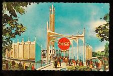 1964 Coca-Cola Pavilion Tower of Music New York World's Fair exposition postcard