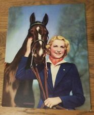 Vintage 1940s Pin Up Print Best of Friends Equestrian Horse