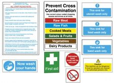 More details for catering kitchen hygiene signs self adhesive food safety notices - pack of 10