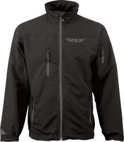 BRP FLY RACING 354-6170M WIND JACKET BLACK Med stretch polyester spandex fleece
