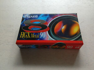 Maxell 8 HGX Metal 90/180 Kassette NEU und OVP
