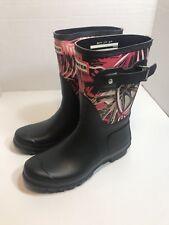 Womens Black short Hunter Boots Size 7 806e85c260