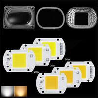 Smart IC 20W 30W 50W LED COB Bulb CHIP White/Warm Floodlight 220V+Lens Reflector