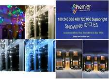 PREMIER LED Christmas Xmas Tree Lights Snowing Icicles WARM WHITE 720