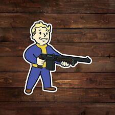 Vault Boy with Shotgun (Fallout) Decal/Sticker
