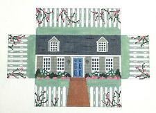 SP.ORDER ~ Cape Cod House Brick Cover Door Stop HP Needlepoint Canvas S.Roberts