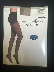 Nordstrom Rack Suede Taupe Control Top Sheer Leg Sheer Toe Size C