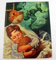 "Rare ""His 1st Touchdown "" by Charles Towne Salesman Sample Calendar Litho Print"