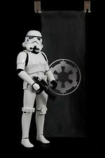 """Galactic Empire 15"""" Fabric Banner Flag for Hot Toys Star Wars Stormtroopers"""