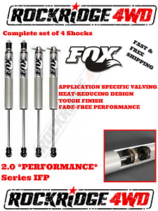 "FOX IFP 2.0 PERFORMANCE Series Shocks for 73-87 CHEVY GMC K10 K20 w/ 4"" of Lift"