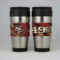 San Francisco 49ers NFL Officially Licensed 15oz Stainless Steel Tumbler w/ PVC