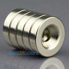 5pcs Round Rare Earth Neodymium N50 Magnets 20 x 5 mm Ring Hole 5mm