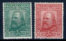 REGNO D' ITALIA 1910 GARIBALDI 2 VALORI G.I **