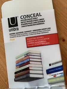 Conceal Invisible Shelf Wall Mount Floating Bookshelf Book Holder Decor Umbra