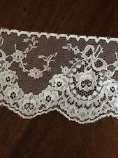 4 Yards Vintage French Net Alencon Lace Wide Trim