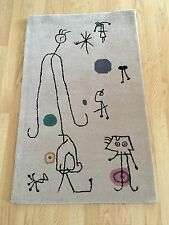 Joan Miro Tapestry of Personages Wool Mid Century Modern Rug Wall Hanging