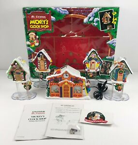 Mr Christmas Disney Christmas Mickey's Clock Shop Music Animated Vintage 1993