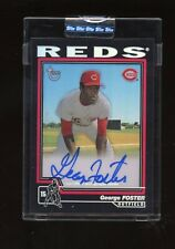 2004 Topps Chrome Black Refractor George Foster Signed AUTO 22/25 Reds