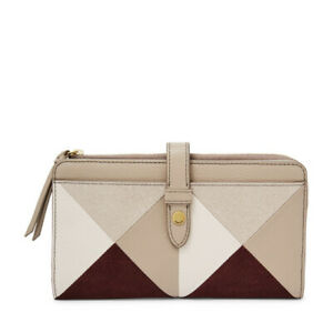 Fossil Fiona Patchwork Tab Wallet WAS $75