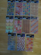 Sticko Stickers Valentines-Hearts-Lips U PICK NEW IN PACKAGE FREE SHIPPING