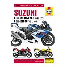Haynes Workshop Manual For Suzuki GSXR 600/750 04-05 & 1000 03-06 Motorcycle