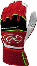 RAWLINGS WORKHORSE COMPRESSION STRAP BATTING GLOVES WORKCSBG ADULT SMALL RED