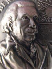 1+ OZ.LONGINES STERLING SILVER 1879 ALBERT EINSTIEN 3D HIGH RELIEF COIN + GOLD