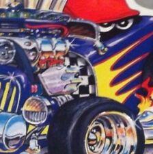 "Speedy Hot Rod New Embossed METAL ""Garage Decor"" Sign"