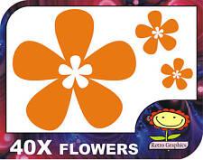 40 Naranja Oriental Flor adhesivos para coches calcomanías de ventana de gráficos de pared panel del cuerpo