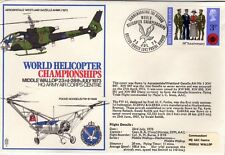 GB 1973 World Helicopter Championships Cover SG 887