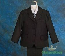 Black Boy Formal Suit Christening Wedding Pageboy Sz 2