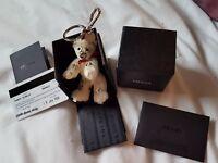Authentic Prada teddy bear Archille Key ring very Rare
