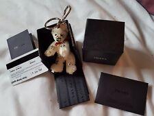 Authentique PRADA Teddy Bear ARCHILLE Porte-clés très rare