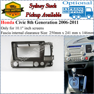 For 10 Ten Inch Screen Fascia facia Fits Honda Civic 2006-2011 8th Generation-