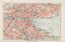 Landkarte city map 1910: Stadtplan ZÜRICH, Massstab: 1 : 17.000