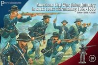 PERRY MINIATURES Civil War Union Skirmishers 38 Figures w Flags FREE SHIP