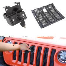 Hood Lock Kit with key For 2018 Jeep Wrangler JL/Unlimited 2 Door 4 Door Black