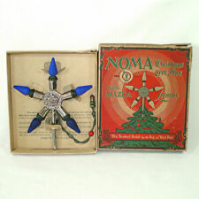 1920s Noma C6 Lighted Metal Christmas Tree Star Topper In Box