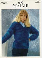 "Mohair Knitting Pattern 1061 Ladies V Neck Sweater  30"" - 44"" -  Chevy"