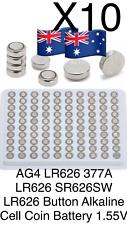 10x AG4 LR626 377A LR626 SR626SW LR626 Button Alkaline Cell Coin Battery 1.55V