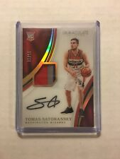 TOMAS SATORANSKY 2016-17 Immaculate ROOKIE PATCH AUTO #15/31 Wizards Acetate RC