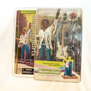 McFarlane Toys Jimmy Hendrix Aug 18, 1969 8:04am action figure, unopened.