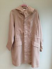 PARKA COAT SIZE 12 BY PAUL & JOE SISTER LIGHTWEIGHT DRAWSTRING WAIST BEIGE BNWT