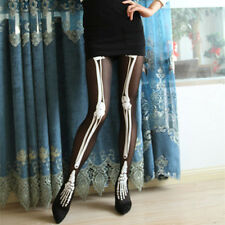 Hot Spring and Autumn Lady Sexy Skeleton Tattoo Pantyhose Stocking High-Tights
