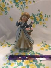 Vintage Flower Girl Music Box Statue